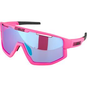 Bliz Fusion M12 Gafas, matt neon pink/begonia with blue multi